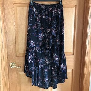 Forever 21 beautiful black maxi  floral skirt